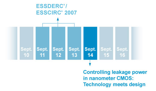 course and ESSDERC/ESSCIRC calendar